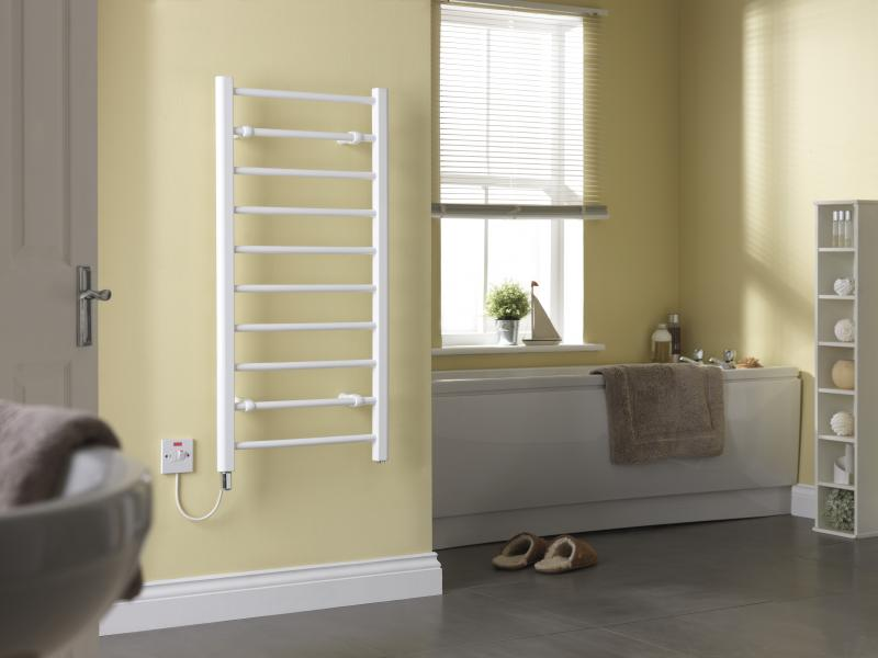 CLR10W White Towel Rail No Towels Room Shot.jpg